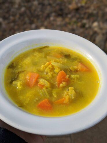 Turmeric, Lentil and Vegetable Soup