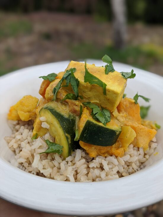 tofu and vegetable curry