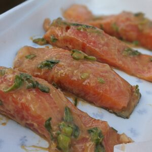 miso and maple baked salmon