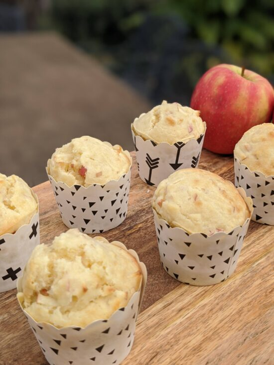 apple and coconut muffin