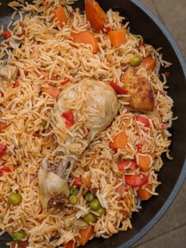 Paprika baked chicken rice