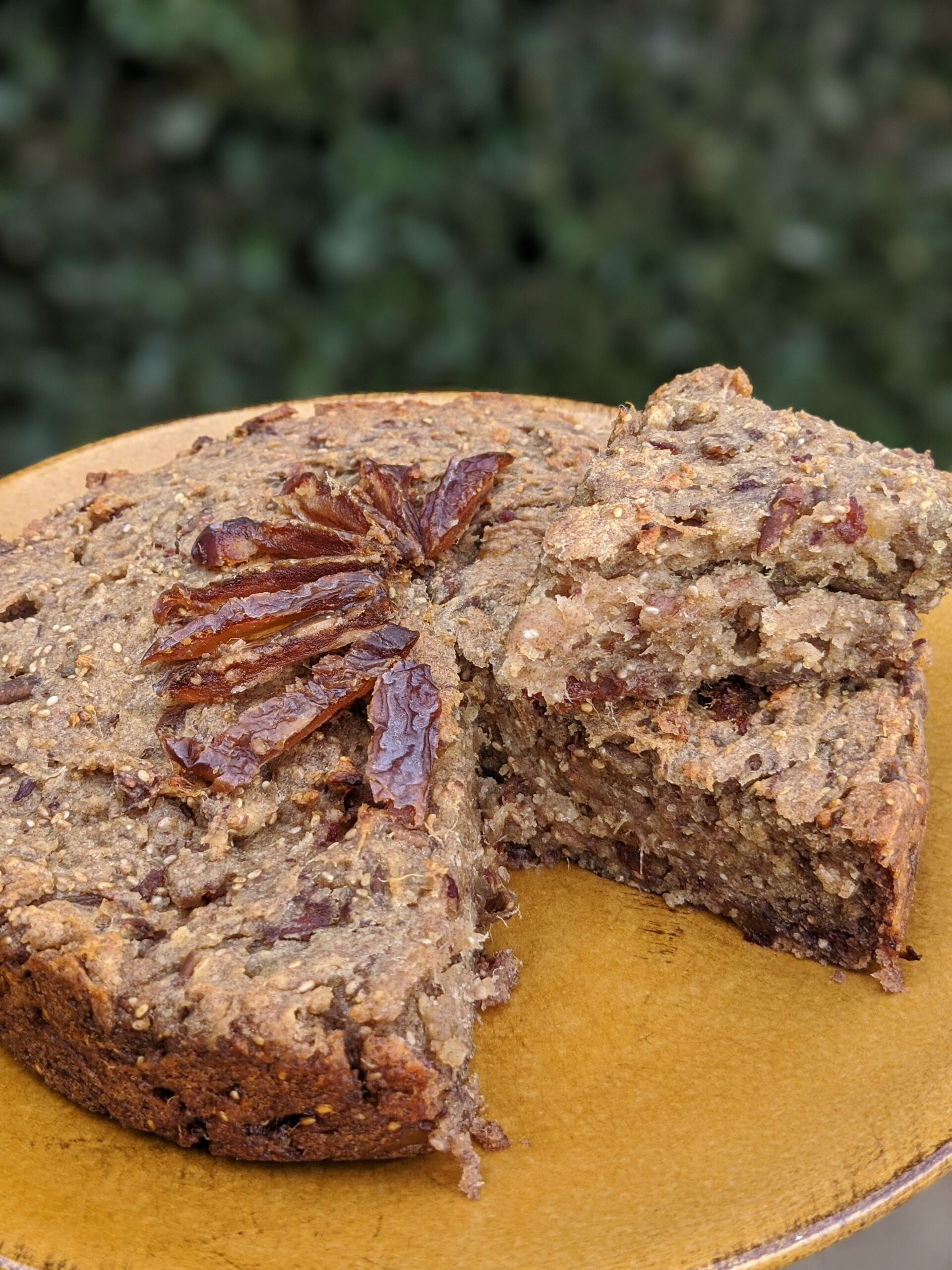 chia and date cake